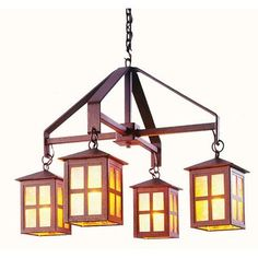 Steel Partners Old Faithful 4 Light Shaded Chandelier Finish: Mountain Brown, Shade / Lens: White Mica