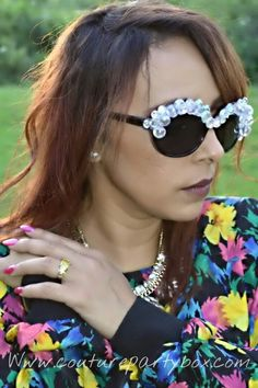 Www.couturepartybox.com Custom shades #shades#sunglasses#handmade#custom#anyphone#iphone#galaxy#iphone6#sell#comment#bling#shine#chains#fringe#pearls#flowers#couturepartybox#fashion#feathers#dope#winter#christmas#gift#handmade#couturepartybox#celebration#birthday#decor#cake#cupcakes#cakepops#candyapples#chanel#mk#michaelkors#custommade#vintage#makeup#hair#fashion#style#bag#boots#instastyle #belt#pink#shadesbycouture#couture#model#nikon#camera
