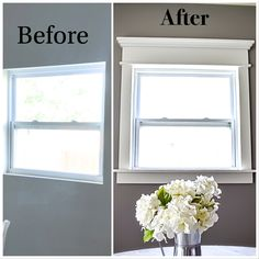 Fancy Window Trim die Lazy Girl Way! - Home Exterior - Fancy Window Trim die L. Fancy Window Trim die Lazy Girl Way! - Home Exterior - Fancy Window Trim die Lazy Girl Way! - Home Exterior In modern ci. Home Upgrades, Living Room Upgrades, Home And Deco, Diy Home Improvement, My New Room, First Home, Home Projects, Sweet Home, New Homes