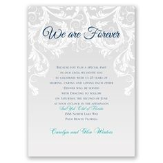 we are forever I wedding vow renewal invitation