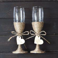Nozze personalizzati occhiali set, champagne tostatura bicchieri per matrimoni, su misura occhiali, rustico decorazione di nozze(China (Mainland))