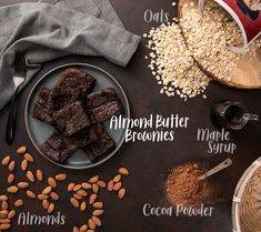 If you don't like decadently fudgy brownies, you need to stay FAR AWAY from these sinfully rich and flourless almond butter brownies! Paleo Baking, Baking Flour, Gluten Free Baking, Sweet Potato Brownies Vegan, Vegan Brownie, Healthy Desserts, Dessert Recipes, Eat Healthy, Healthy Cooking
