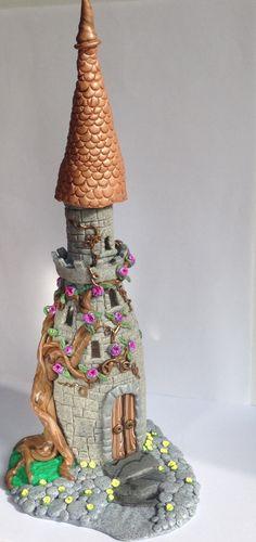 Sprookjeskasteel 2. Polymer Clay kasteel Fairy huis groot