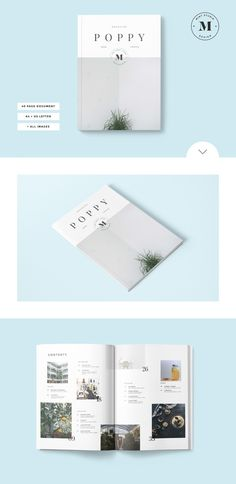 Poppy Magazine by Mint Studio on @creativework247
