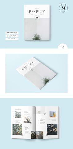 Poppy Magazine by Mint Studio on @creativework247