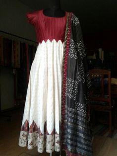 Summer by rupali singh design E mail at rupalisingh@hotmail.com Long Dress Design, Dress Neck Designs, Saree Blouse Designs, Churidar Designs, Kurta Designs Women, Mode Bollywood, Kalamkari Dresses, Frocks And Gowns, Designer Anarkali Dresses