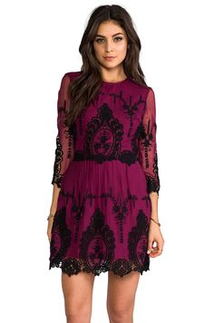 Dolce Vita Valentina Dress in Burgundy/Black from REVOLVEclothing
