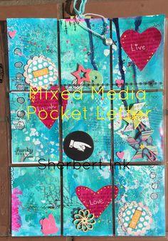Mixed Media Pocket Letter Part 2 - HOW TO MAKE MINI PINWHEELS & BOOKMARKS