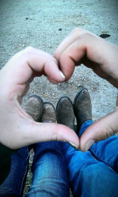 "♥- photo idea, but with heels and nice shoes, not cowboy dirty boots---UH NO. Cowboy ""dirty"" boots are real goals. Country Couples, Country Girls, Cute Couples, Country Life, Country Relationships, Relationship Goals, Boyfriend Pictures, How To Pose, Thats The Way"