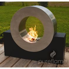 Not designed for dogs to jump through! This is an ultra modern outdoor fireplace, be prepared to wow your friends and family with this unique outdoor biofuel fireplace. No propane required! Modern Outdoor Fireplace, Outdoor Living, Outdoor Decor, Outdoor Fireplaces, Modern Fireplaces, Indoor Outdoor, Biofuel Fireplace, Ethanol Fireplace, Fire Pit Backyard