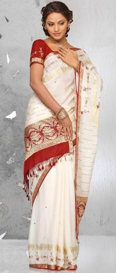 Clothing, Shoes & Accessories Other Women's Clothing Rational Designer Yellow Beige Fancy Butta Work Half Half Sari Georgette Party Wear Saree Do You Want To Buy Some Chinese Native Produce?