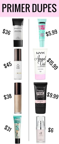 Primer Dupes Why buy end when there are so many amazing makeup primer dupes? The post Makeup Primer Dupes appeared first on Trendy.Why buy end when there are so many amazing makeup primer dupes? The post Makeup Primer Dupes appeared first on Trendy. Beauty Make-up, Beauty Dupes, Beauty Hacks, Beauty Makeup Tips, Natural Beauty, Beauty Land, Beauty Vanity, Face Beauty, Beauty Shop