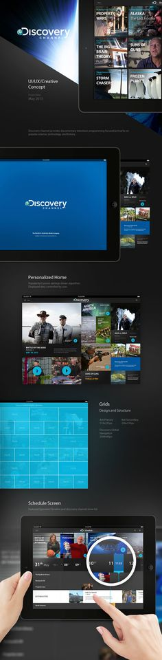 Discovery Channel iPad on Behance