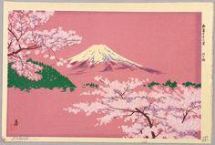 Tokuriki Tomikichiro Lake Kawaguchi - New Thirty-six Views of Mt. Fuji Date:Ca. 1950