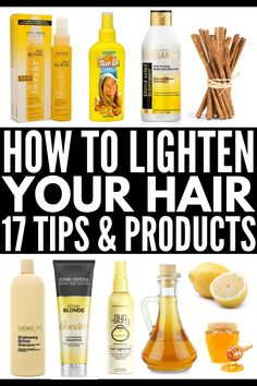 how to naturally lighten hair if you want to know how to lighten hair naturally with lemon cinnamon apple cider vinegar chamomile vitamin c and othe Lighten Hair At Home, Lighten Hair Naturally, Lighten Hair With Lemon, How To Blonde Hair Naturally, Naturaly Lighten Hair, How To Lighten Blonde Hair, Lightening Dark Hair, Diy Hair Lightening Spray, Beauty