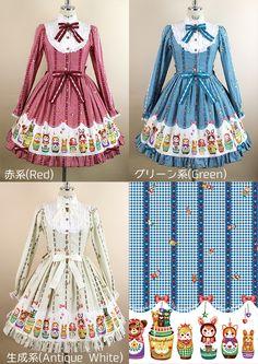 Nostalgic Matryoshka Doll 長袖ワンピース | metamorphose temps de fille - gothic & lolita fashion in Japan