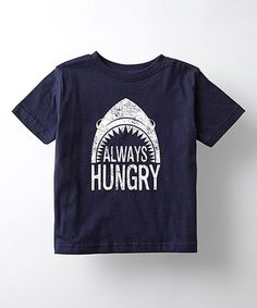 Look what I found on #zulily! Navy 'Always Hungry' Shark Tee - Toddler & Kids #zulilyfinds