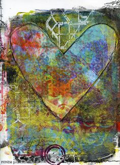 Ronda Palazzari Mine. Since my new (& older) stencils were sitting on my desk, i decided to break out my Gelli Arts Printing plate. [insert PURE HAPPINESS]. i had no destination in mind. i wanted to play around with some acrylic inks, new & old stencils, india ink, and acrylic paints with my plate.