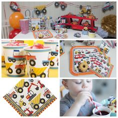 the convoy and have a fabulous construction party ! This party box has a unique centre piece as well as plates cups and napkins.