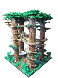 Geek Art Gallery: Lego Creation: Ewok Village
