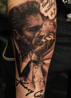 Andy Engel Tattoo - Studio für fotorealistische Tattoos in Markststeft Andy Engel Tattoo, Tattoo Studio, Johnny Cash Tattoo, German Tattoo, Coloured People, Piercing Studio, Future Tattoos, Forearm Tattoos, Tattoo You