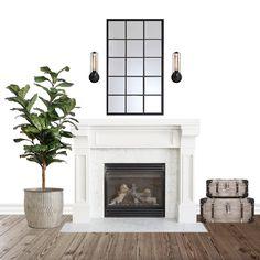 Fireplace Interior Design - Modern Farmhouse