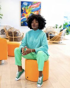 Color Blocking Outfits, Clothing Color Combinations, Black Girl Fashion, Look Fashion, Autumn Fashion, Mode Outfits, Casual Outfits, Fashion Outfits, Colourful Outfits