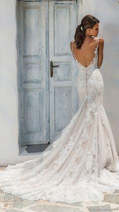 justin alexander 2018 bridal sleeveless v neck full embellishment elegant trumpet mermaid wedding dress open scoop back chapel train (9) bv -- Justin Alexander 2018 Wedding Dresses