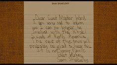 The resignation letter