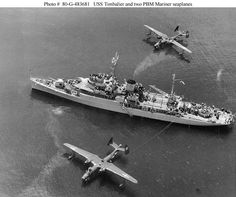Seaplane tender and two PBM Mariners Seaplanes