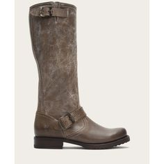 Frye Veronica Slouch ($279) ❤ liked on Polyvore featuring shoes, boots, knee-boots, mid-calf boots, slate, slouch boots, destroy boots, mid calf slouch boots, knee boots and moto boots