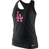 2c393dda109b Los Angeles Dodgers Nike Women s Logo Tri-Blend Racerback Tank Top - Black