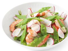 Shrimp and Snow Pea Salad from #FNMag #myplate #protein #veggies
