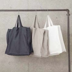 Lean Tote bag | linen and milk