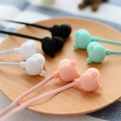 Cheap earphone adaptor, Buy Quality earphone box directly from China earphone bluetooth Suppliers: New Bear Cute Earphone in-ear Candy Color Girl Ear phones Earbuds Universal for iPhone Xiaomi Samsung Lenovo Nokia for Gfit Kawaii Accessories, Iphone Accessories, Cute Headphones, Mode Kawaii, Cute Fruit, Candy Colors, Cool Things To Buy, Mobiles, Ear Phones