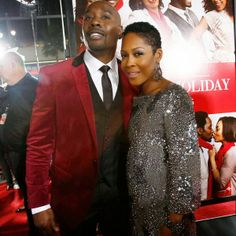 "Morris Chestnut and Monica Calhoun at ""The Best Man Holiday Premiere"""