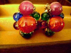 FINAL SALE 1940s 1950s estate earrings by SkyAccessoryBoutique, $17.50