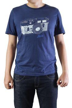 Leica Camera Classic Tee Shirt Blue Analog 35mm Photography