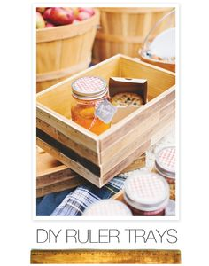 DIY Ruler Trays. as easy as they are useful. Get the instructions right here: http://www.stylemepretty.com/2012/10/14/smp-at-home-diy-ruler-trays/#