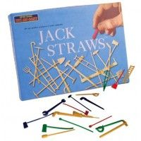 Dump a jumble of Jack Straws onto your tabletop and test your skill! Played along the same lines as pick up sticks, Jack Straws are fun for both kids and adults. Recommended for ages 6 and up. Any number of players. Box measures: x inches. 1970s Childhood, Childhood Memories, Vintage Games, Vintage Toys, Cool Gifts, Best Gifts, Pick Up Sticks, Presents For Boys, Retro Toys