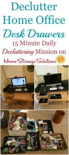 Office Drawer Organization, Home Office Storage, Home Office Desks, Office Den, Clutter Organization, White Office, Household Organization, Paper Organization, Clutter Solutions