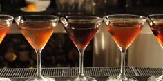 Fun Party Trick: 6 Manhattans in 60 Seconds