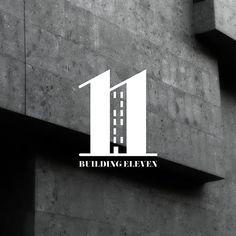 Building number logo. Branding & logo design for 'Building 11.' London.  By brandishgraphics.com