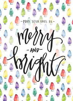 Merry and Bright: hand drawn art by Hillary Barnard Owen. Proceeds benefit women and children healing from abuse.