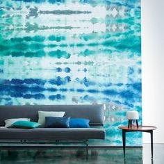Casamance panoramic wallpaper Wagami blue