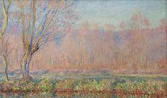 Клод Моне - The Willows, 1885. Клод Оскар Моне
