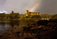 Dunvegan Castle, Scotland. Located on the Isle of Skye. Known to be haunted, has a magical Fairy Flag and my descendants, the Macleod Clan, lived there. :-)