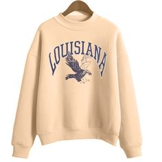 About louisiana sweatshirt DAN This sweatshirt is Made To Order, we print the sweatshirt one by one so we can control the quality. Earl Sweatshirt, Graphic Sweatshirt, T Shirt, Sweatshirt Outfit, Crew Neck Sweatshirt, School Outfits, Outfits For Teens, College Outfits, Summer Outfits