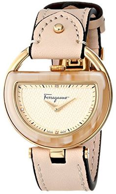 Salvatore Ferragamo Women's FG5070014 Diamond-Accented Stainless Steel Watch with Beige Leather Band http://smile.amazon.com/dp/B00M3SJFI0/ref=cm_sw_r_pi_dp_GrD-ub04ZVDEJ