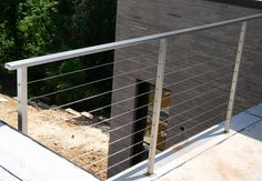 Small balcony deck railings vert and horiz cables mid for Allure cement siding